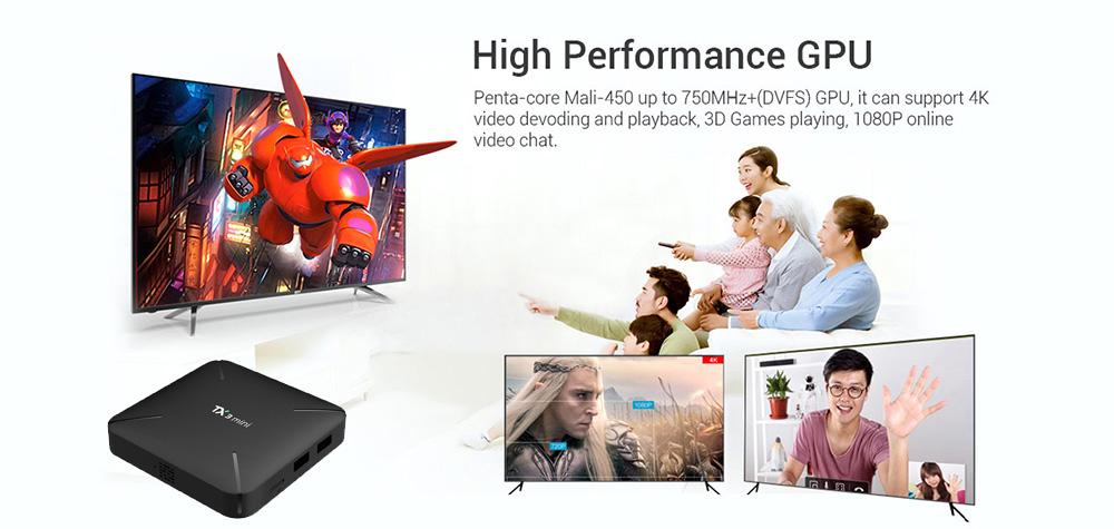 Tanix TX3 Mini L 4K TV Box Amlogic S905W Android 7.1 1+8GB WiFi HDMI USB AV TF