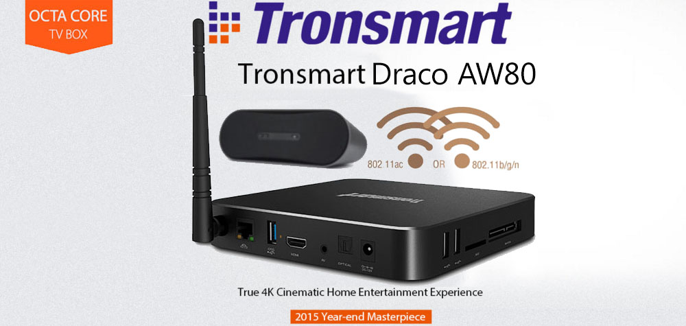 Tronsmart Draco A80 Octa Core Android Mini TV Box